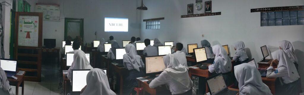 Pelaksanaan UNBK 2018 - SMA Bina Negara 1 Baleendah